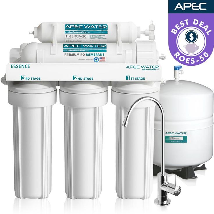 APEC Water Systems Essence Premium Quality 5-Stage Under-sink Reverse Osmosis Drinking Water Filter System-ROES-50 - The Home Depot