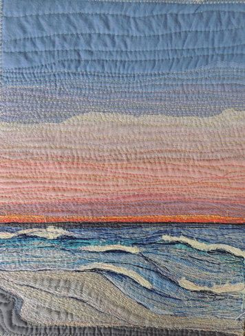 "Textile Art Quilt, ""Endings"" , fabric stitched art piece thread painted"