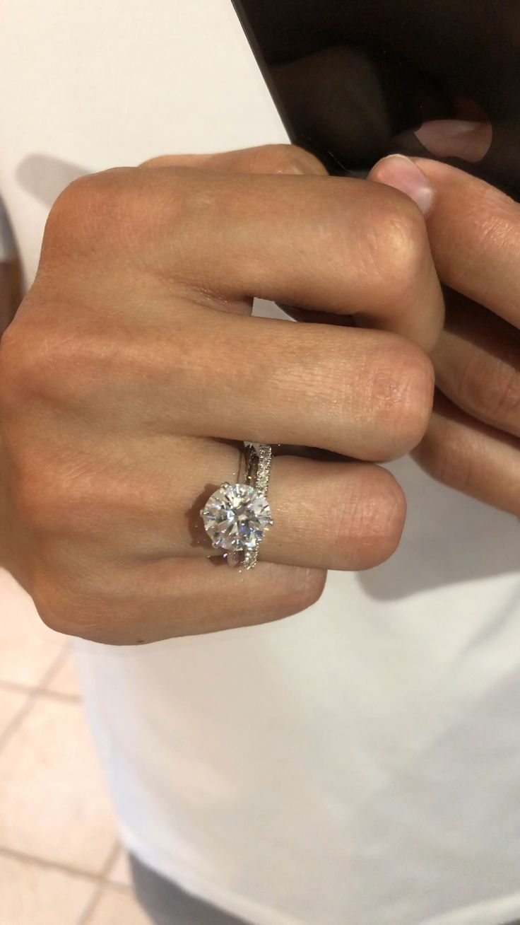 3 50 Carat Round Diamond Tiffany Style Solitaire Ring With Images Dream Engagement Rings Diamond Wedding Bands Best Engagement Rings