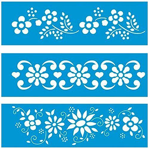 28cm x 8cm Pochoir (Jeu de 3) Réutilisable en Plastique Transparent Souple Trace Gabarit - Traçage Illustration Conception Murs Toile Tissu Meubles Décoration Aérographe Airbrush Litoarte http://www.amazon.fr/dp/B00PMEAUZY/ref=cm_sw_r_pi_dp_-vOqwb0KECRMB