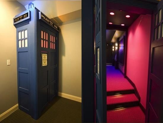 Entrance to a cinema room - it's bigger on the inside!