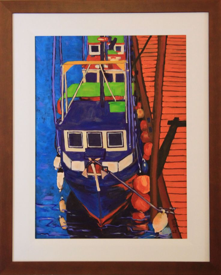 Fishing Boats at Campbell River Oil on Canvas  - 2012