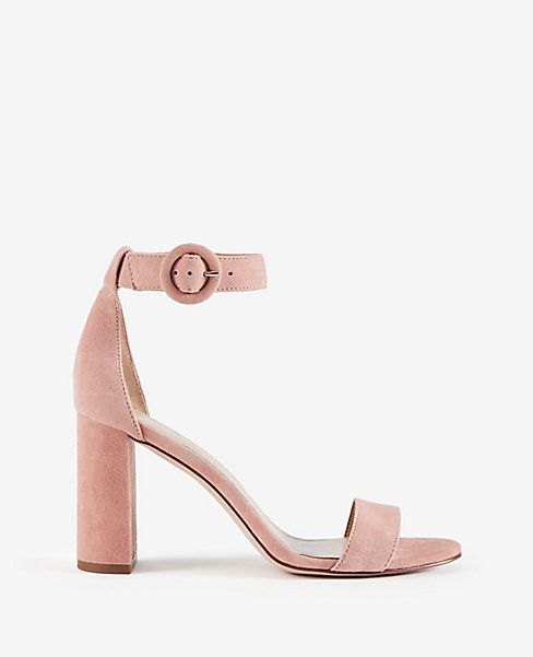 24088f69bc9 Shop Ann Taylor for effortless style and everyday elegance. Our Leannette  Suede Leather Block Heel Sandals is the perfect piece to add to your closet.