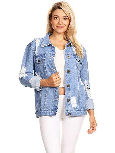 Veste en jean large pour femme