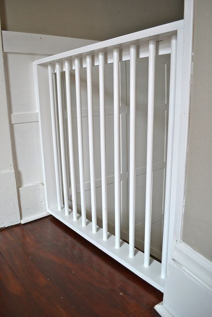 Homemade wooden painted baby gate