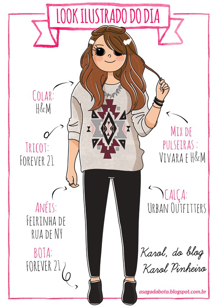 Illustration outfit of the day Karol Pinheiro