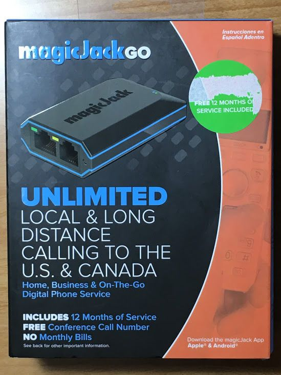 MAGIC JACK GO MAGICJACK VOIP PHONE SERVICE UNLIMITED CALL US CANADA 895034001860 #MagicJack