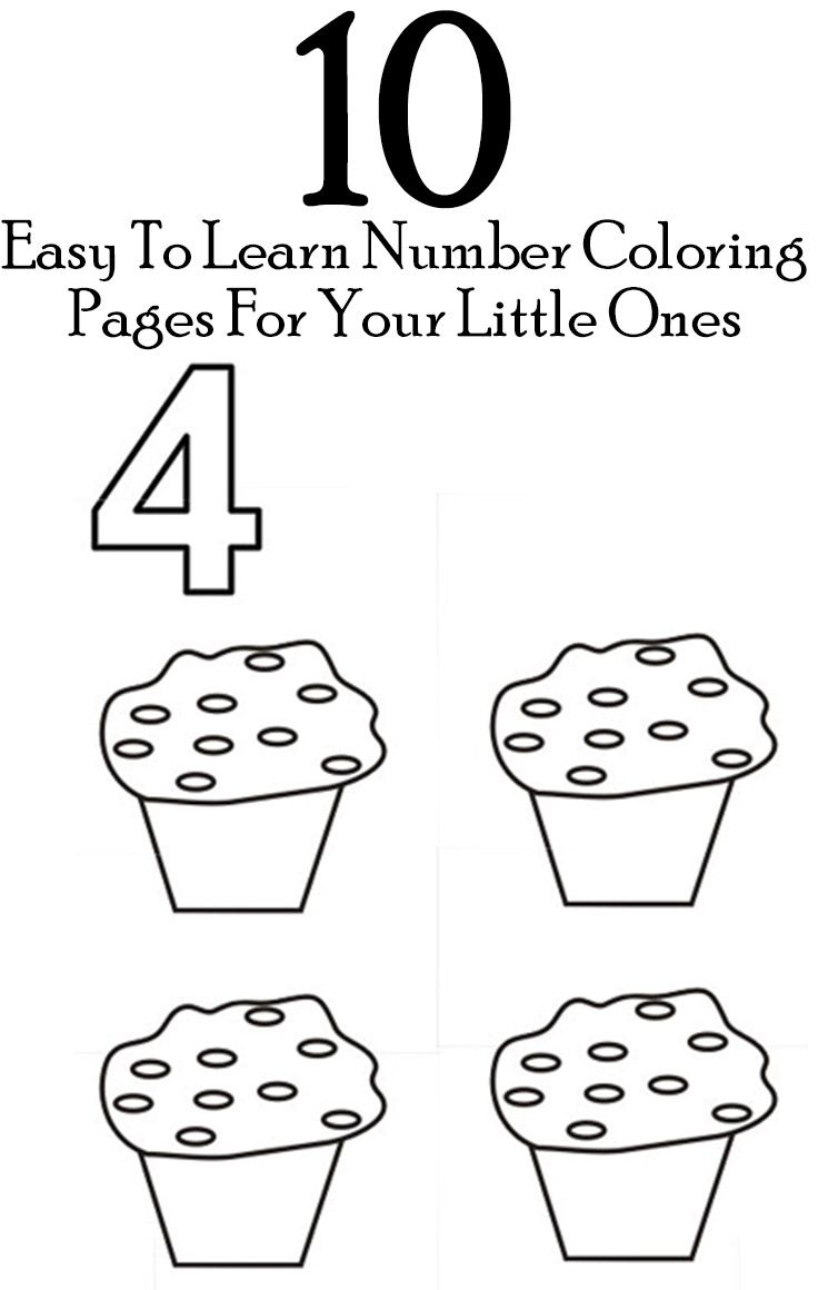 Counting coloring pages for toddlers - 10 Easy To Learn Number Coloring Pages For Your Little Ones
