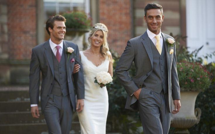 Our silver mohair lounge suit, Claverley. #groom #weddingsuits #greysuit #groomsmen