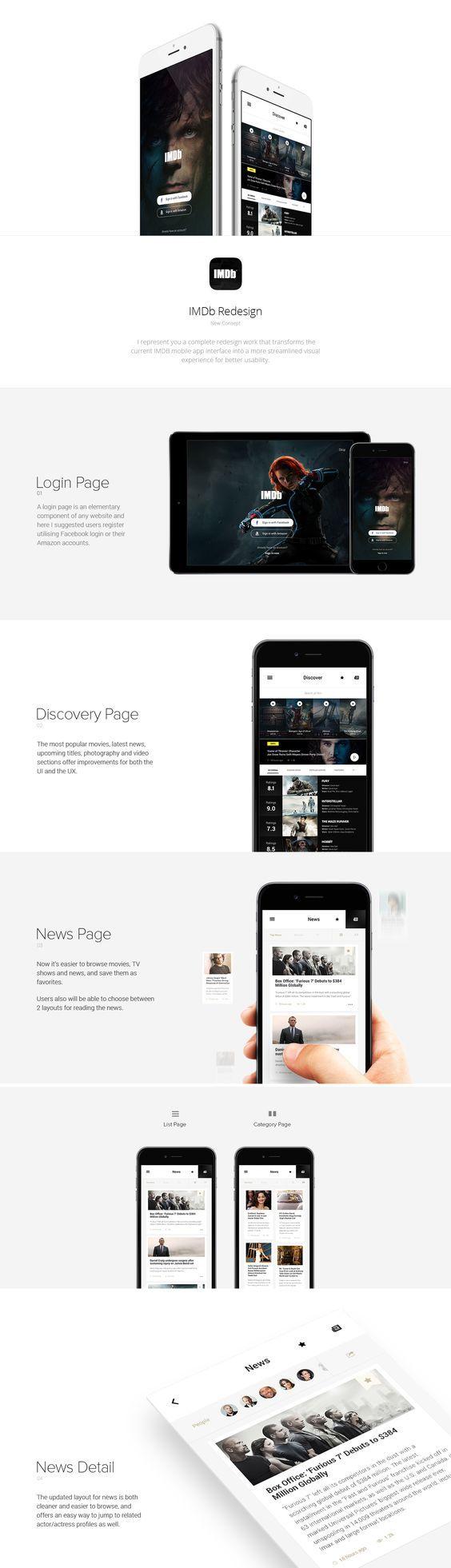 IMDb Mobile App Redesign on Behance: