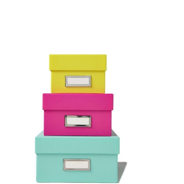 box it storage set (£16) ❤ liked on Polyvore featuring home, home decor, small item storage, stackable storage boxes, stacking boxes and storage box