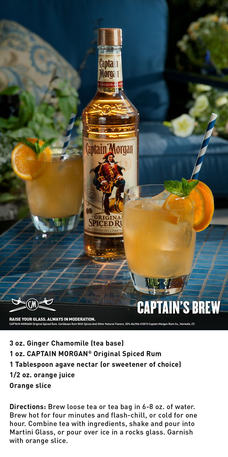 9 best spice up your tea with captain morgan images on for Mix spiced rum with