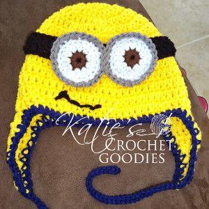 Minion Newborn Crochet Hat   AllFreeCrochet.com