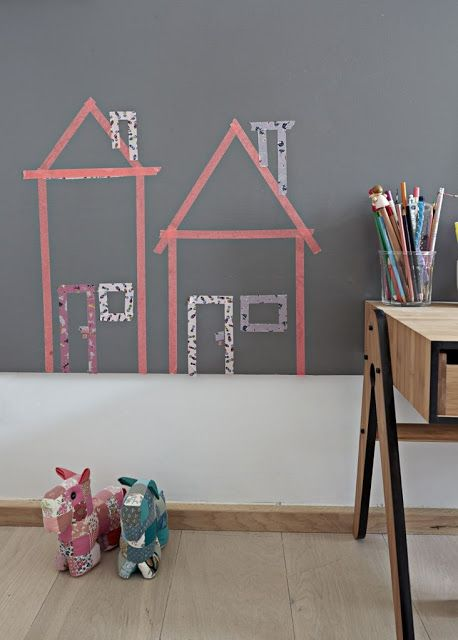 washi tape decoración de paredes