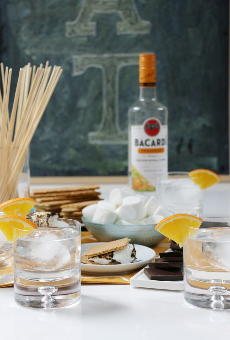 No summer is complete without some S'mores & a refreshingly simple Gingerine Dream made with Bacardí Tangerine rum. Gingerine Dream: 2 oz Bacardí Tangerine Rum / 2 oz Ginger Liqueur / 1.5 oz Simple Syrup / Club Soda [sp]