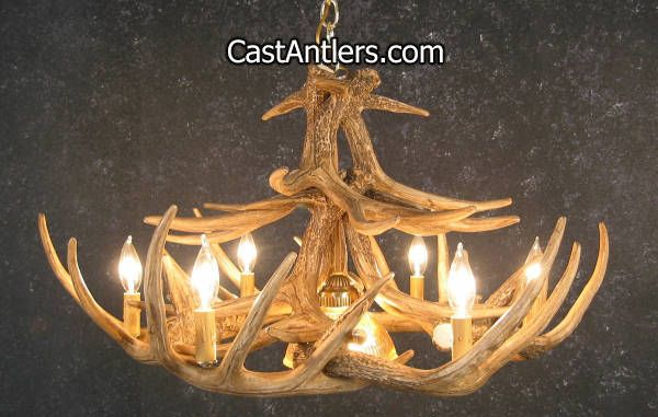 40 best whitetail antler chandeliers images on pinterest whitetail 12 cast antler chandelier w downlight aloadofball Image collections