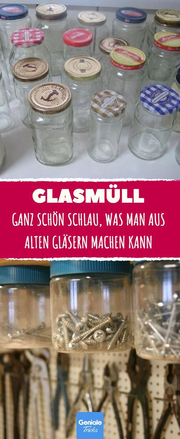 11 praktische Tricks mit Glasabfällen #Upcycling #Recycling #Altes Glas #Schraubenglas # …   – Haushaltstips
