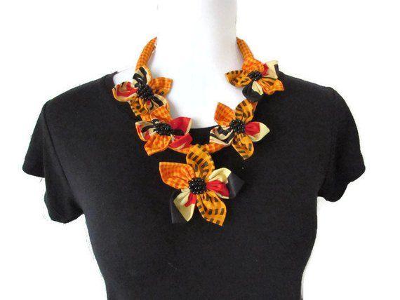 Égyptien Ethnique Perle Bib Collier Cou Africain Multicolore Gland Long collier