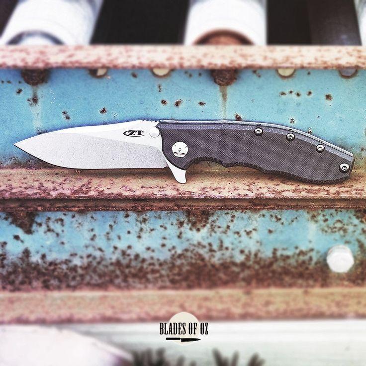 Zero Tolerance 0562 Black G10 Handle Stonewash Elmax Blade Rick Hinderer Slicer