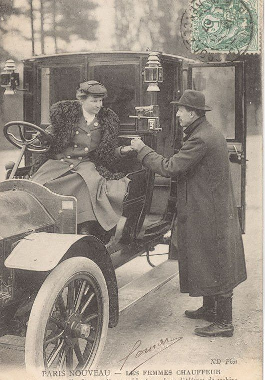1900s Parisienne Taxi Driver - Early Woman Driver in Paris
