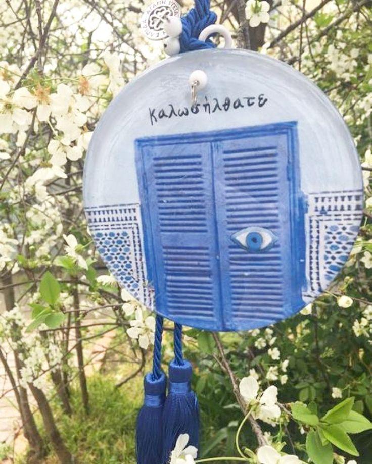 Καλώς ήλθατε with our Ionian Eyes $75 Stunning hanging glass eye handmade in Greece!