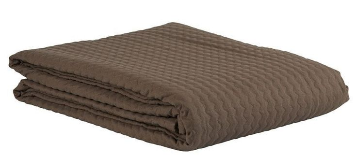 Dessus de lit matelassé Fibule uni chocolat 255x260