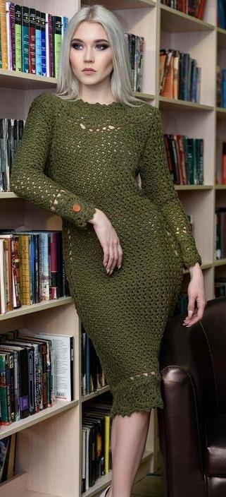 crochet dress by Polina Kraynova (Instagram)