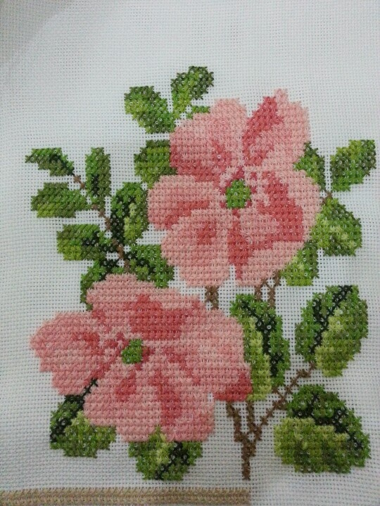 Floral cross stitch