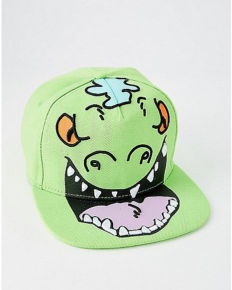 Big Face Reptar Snapback Hat - Rugrats - Spencer s  d07c2143b3b5
