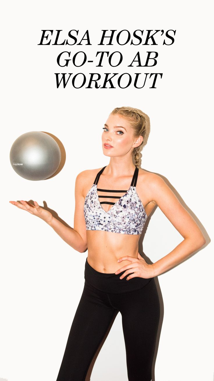 Victoria Secret Model Elsa Hosk Shares Her Ab Workout Routine: So if you're one of the types who watches the VS Show every year and uses it as motivation to get to the gym, now is your chance. Flex instructor Jenn Seracuse had Hosk break down some ab splitting, Pilates-inspired exercises that, again, if done with the dedication of an Angel, might actually give you the kind of toned tummy that looks oh-so-natural on her. | coveteur.com