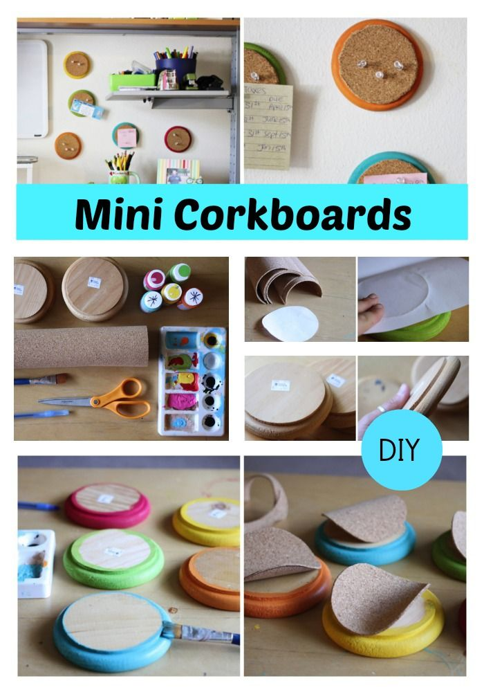 Make colorful and fun mini circle cork boards for your office or home #diy #organized #dorm www.trashycrafter.com