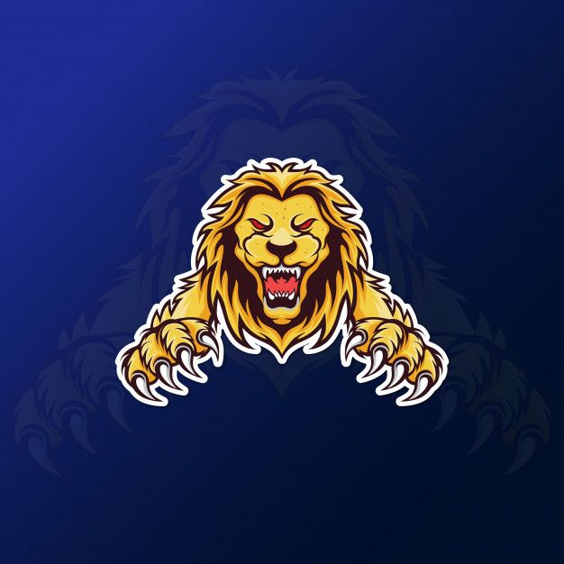 Angry Roar Lion Mascot For Esport Gaming Logo Lion King Art Roaring Lion Lion Head Logo