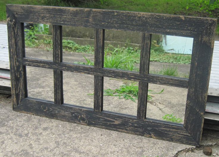 Details About Reclaimed Barn Wood 8 Pane Window Mirror