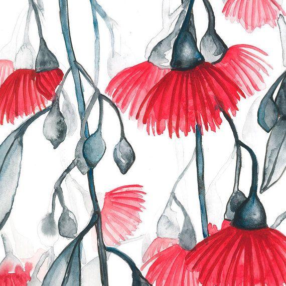 Australian Eucalyptus Flowers: Original by CarlaEllisCreative
