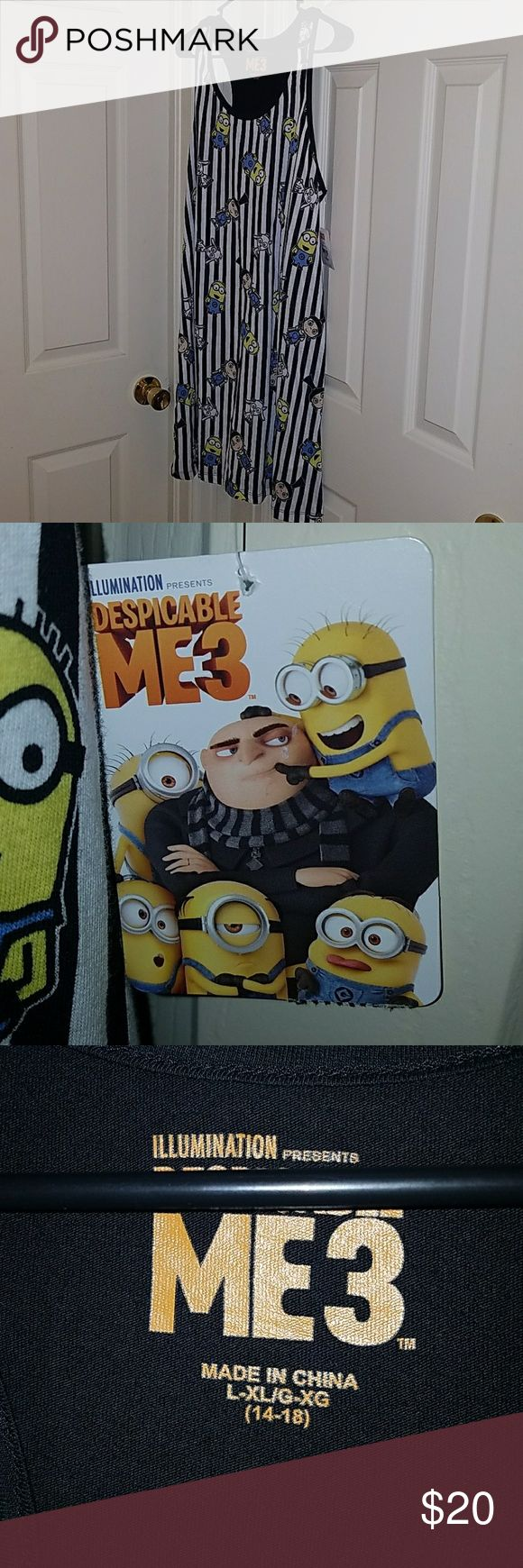 Despicable Me 3 Nightgown Minions Margo Goat Brand New w Tags Despicable Me 3 Nightgown Size L/XL (14-18) Perfect for Christmas Holidays Illumination Intimates & Sleepwear