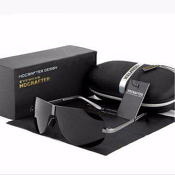 Unisex UV400 Polarized Polit Rimless Sunglasses Driving Outdoor Sports Glasses Eyewears at Banggood