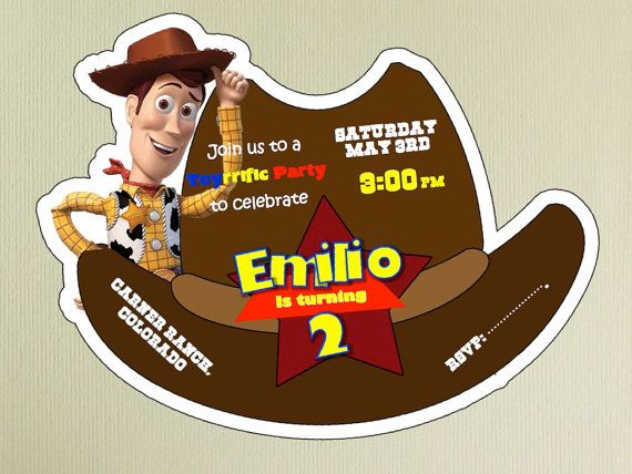 9 best toy story images on pinterest personalized stationery toy toy story woody invitation by emysouvenir on etsy 600 stopboris Gallery