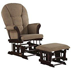 Shermag Alexis Nursery Glider Rocker and Ottoman Combo PEAT