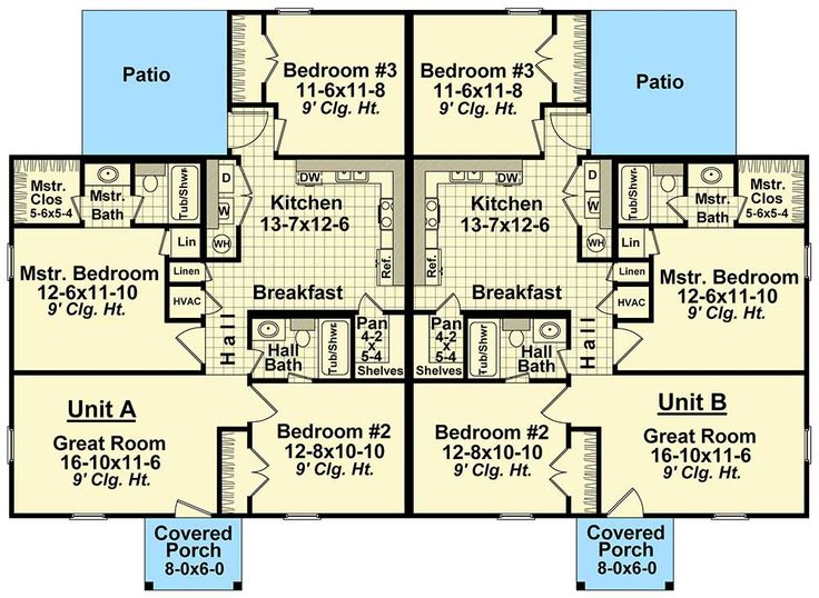 31 best Two family house plans images on Pinterest Family homes