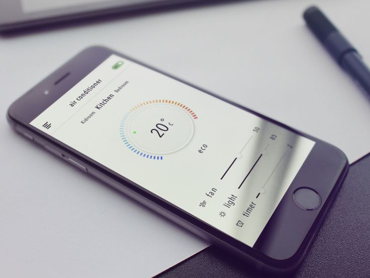 Smart Home Control Center App - by Zhu Sheng | #ui #ios