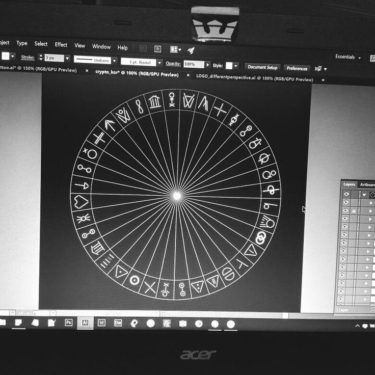 My first self-designed cryptographic alphabet.  #design #cryptography #secret #alphabet