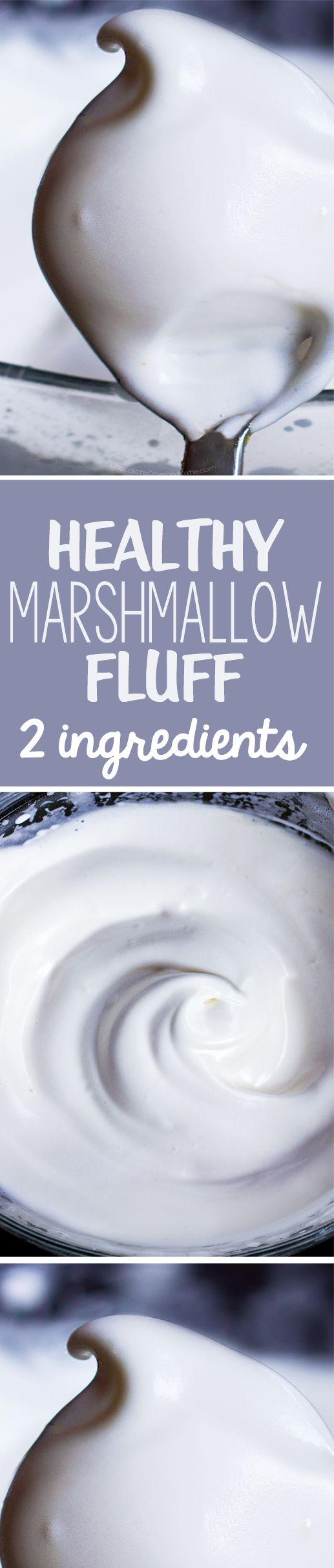 Just 5 minutes + 2 ingredients = the most amazing healthy marshmallow fluff recipe