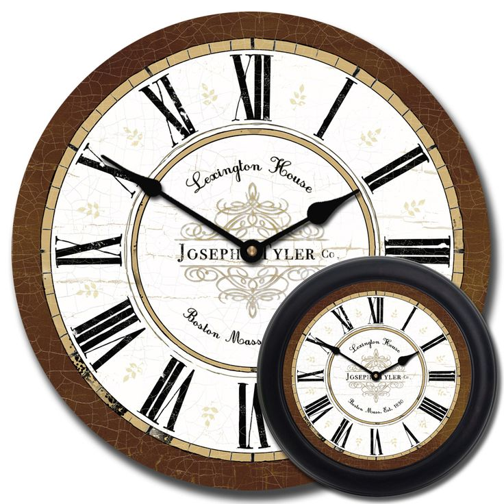 Brown wall clock - Vermont Brown Clock mix