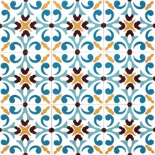 Encaustic cement tiles manufacturer, traditional European floor tiles from the XX century. Mosaic Tiles
