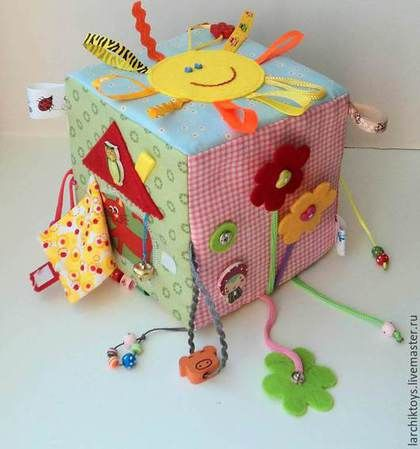 Educational handmade toys.  Fair Masters - handmade.  Buy Developing cube.  Handmade.  Multicolored, razvivashka