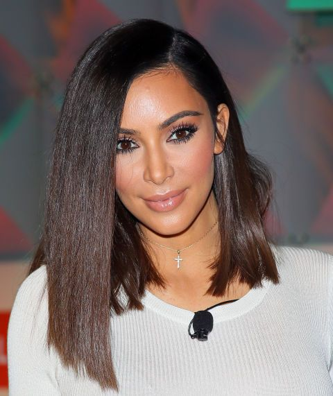 Kim was recently spotted with a super sleek lob (Rachel Green would have so rocked this on Friends), which turned out to be a wig cut by Chris Appleton. Kim has since hit Snapchat to reveal that she's considering making the look permanent.