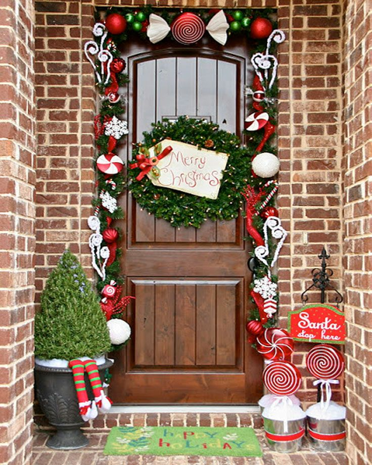 High Quality Top 10 Inspirational Christmas Front Porch Decorations