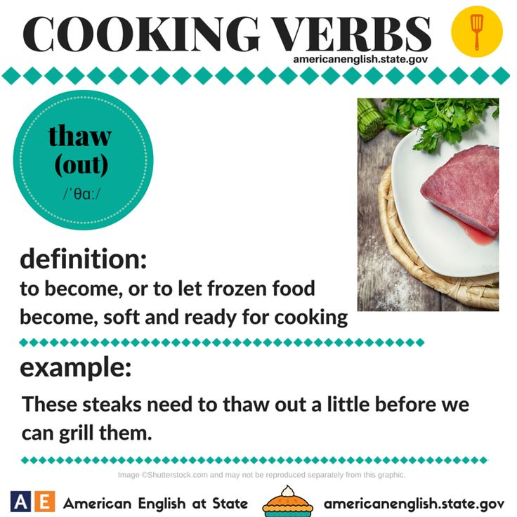 Cooking Verbs: thaw (out)