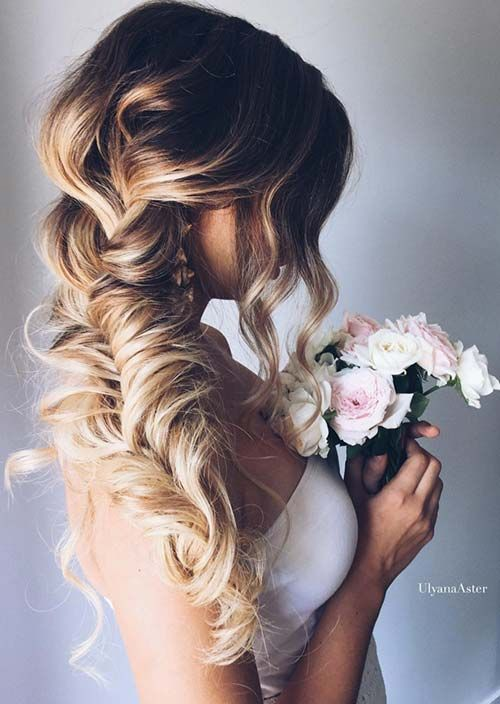 100 Trendy Long Hairstyles for Women: Bridal Fishtail Braid