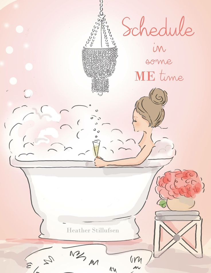Me Time - Double Bubble - Art for Women - Quotes for Women - Art for Women…